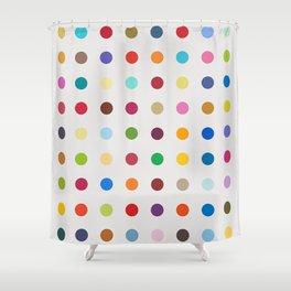 Hirst Spots Shower Curtain