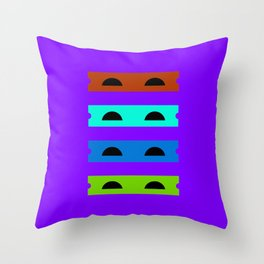 Teenage Minimal Ninja Turtles Throw Pillow