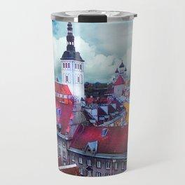 Tallinn art 3 #tallinn #city Travel Mug