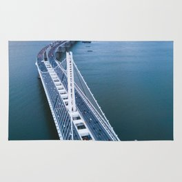 Oakland - San Francisco Bay Bridge Rug