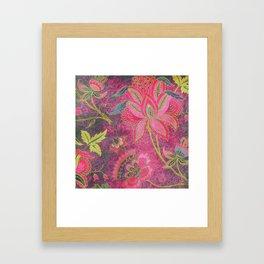 Jacobean Gold Leaf Framed Art Print
