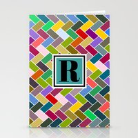 monogram Stationery Cards featuring R Monogram by mailboxdisco