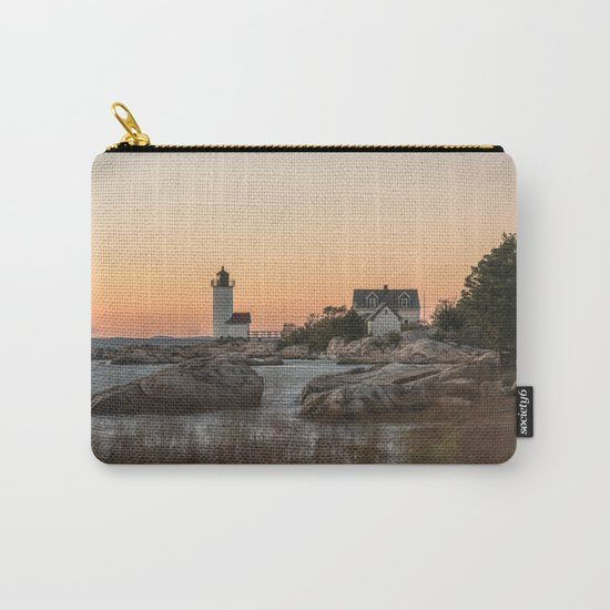 Autumn Lighthouse at sunset Carry-All Pouch