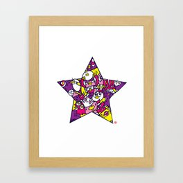 PINK STAR Framed Art Print