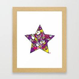 PINK STAR Framed Art Print