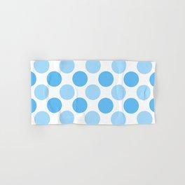 Blue polka dots Hand & Bath Towel