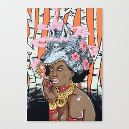 Guilt In Her Grin Canvas Print
