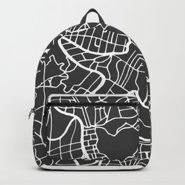 Rome Map in Retro Style. Hand Drawn. Backpack