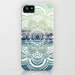 Mandala : Teal Sea Sunset iPhone Case