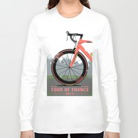 tour de france Long Sleeve T-shirts featuring Tour De France Bike by Wyatt Design