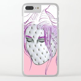 Pastel Quilted Clear iPhone Case