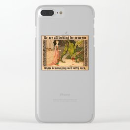 Green Dragon Clear iPhone Case