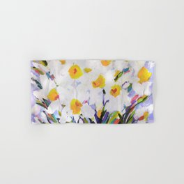 White Daffodil Meadow Hand & Bath Towel