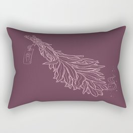 Burn sage, not our sisters (in pink) Rectangular Pillow