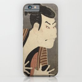 Famous Japanes Art: Tōshūsai Sharaku - Print of Ōtani Oniji III in the Role of the Servant Edobei iPhone Case