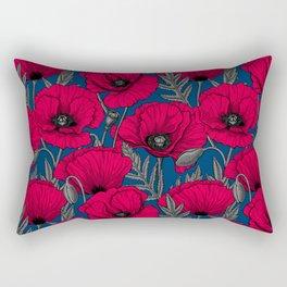 Night poppy garden  Rectangular Pillow