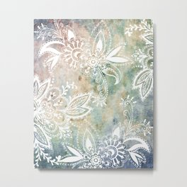 Paisley Earth Metal Print