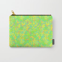 90's Neon Abstract Turtle Shells in Fluorescent Yellow Carry-All Pouch