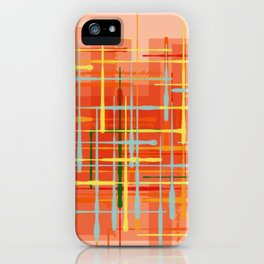 Abstract Orange Terminal iPhone Case