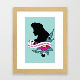 Pin-up Heartbreaker Framed Art Print