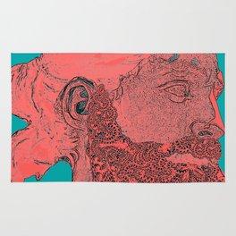 hipster Neptune Red Rug