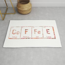 coffee periodic table Rug