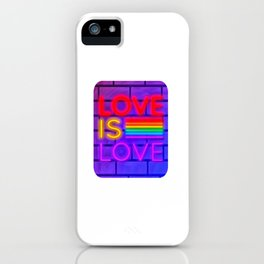 LGBT, Gay and Lesbian Quotes, Designs of Rainbows Flags and Hearts (19) iPhone Case