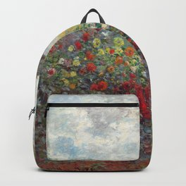 Claude Monet - The Artist's Garden in Argenteuil, A Corner of the Garden with Dahlias Backpack
