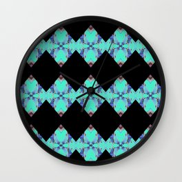 Geometric Pattern with blue color Wall Clock