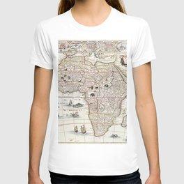 Afric nova descriptio (1690) by Willem Janszoon Blaeu T-shirt