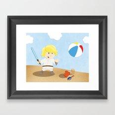 SW Kids - Luke at the Beach Framed Art Print