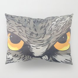 Eagle owl art owl bird drawing Pillow Sham