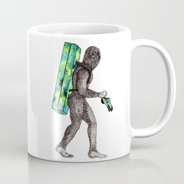 Bouldering Yeti Coffee Mug