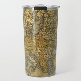 Vintage map of Europe Travel Mug