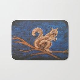 Squirrel Study Bath Mat