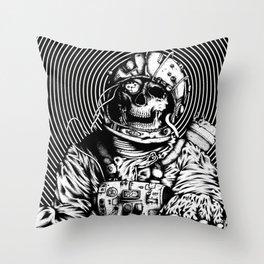 Skelenaut V1 (Black & White) Throw Pillow