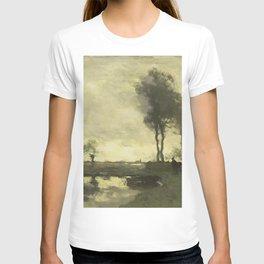Johan Hendrik Weissenbruch - Landschap met boerderij bij een plas T-shirt