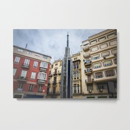 Malaga - in rainy day Metal Print