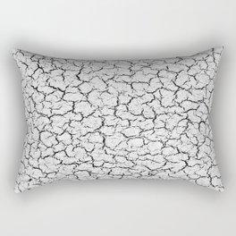 Cracked Abstract Print Texture Rectangular Pillow