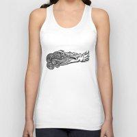 crocodile Tank Tops featuring crocodile by bloodpurple