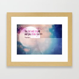 I LIKE U Framed Art Print