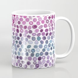 Watercolor Brush Strokes and Splashes Pattern in Pink, Turquoise and Blue Coffee Mug