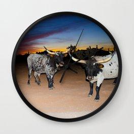 Bulls Night Out Wall Clock