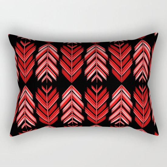 Red feathers Rectangular Pillow