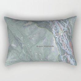 Aspen Highlands Resort Trail Map Rectangular Pillow
