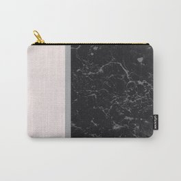 Grey Black Marble Meets Romantic Pink #2 #decor #art #society6 Carry-All Pouch