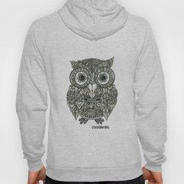 Zentangle Owl Fineliner Pen Drawing Hoody
