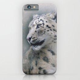 Snow Leopard profile iPhone Case