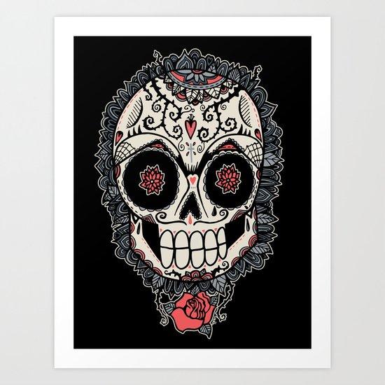 Muerte Acecha Art Print