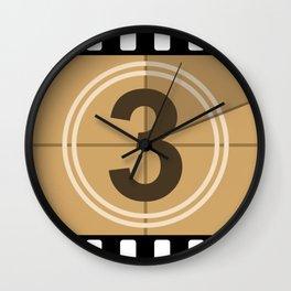 Count Down cinema Wall Clock